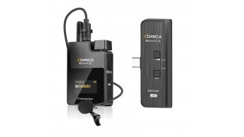 COMICA BOOMX-D 2.4G DIGITAL WIRELESS MICROPHONE SYSTEM FOR MIRRORLESS/DSLR CAMERAS D1/D2