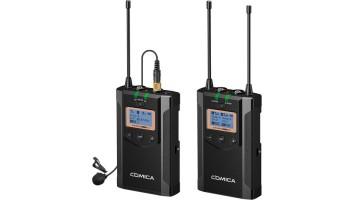 Comica Audio CVM-WM100 PLUS Camera-Mount Wireless Omni Lavalier Microphone System (568 to 591 MHz)