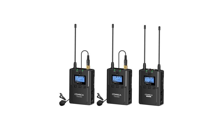 COMICA CVM-WM200А UHF Dual-Transmitter Lavalier Microphone Kit