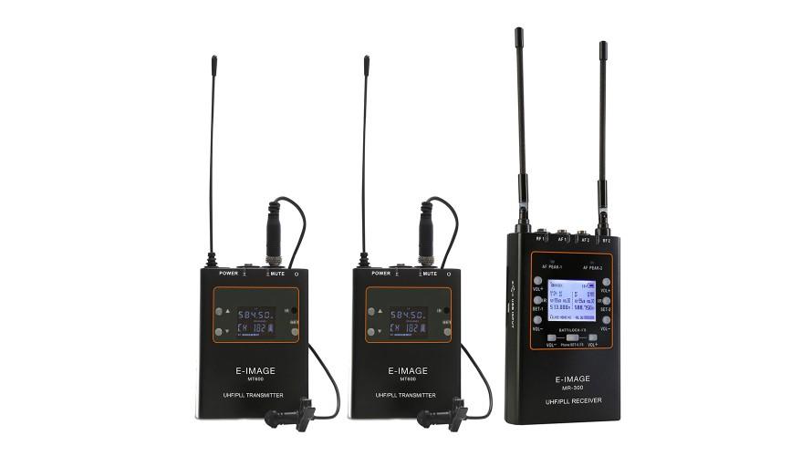 E-image MTR-S4 UHF Professional Wireless Microphone Kit (2xMT-600+1x MT-500+1xMR300)