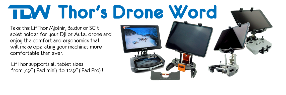 TDW TABLET MOUNTS FOR AUTEL  & DJI DRONES